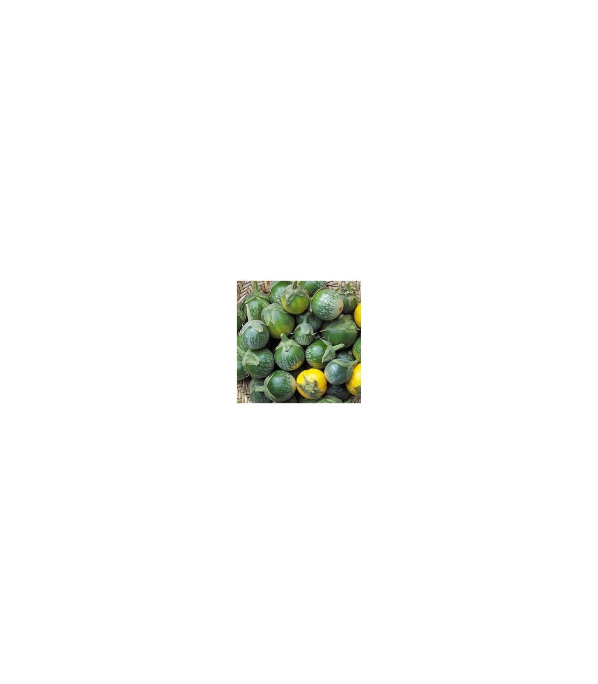 Lilek- Baklažán- Zelený tygr- semena- 6 ks