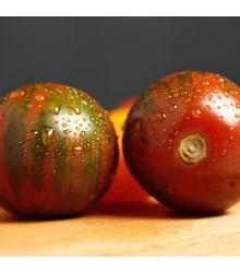 Rajče Black Zebra - Solanum Lycopersicum - semena rajčat - 7 ks