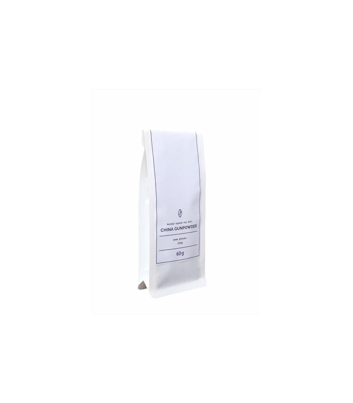 China Gunpowder Organic Tea - zelený čaj - BIO kvalita - 60 g