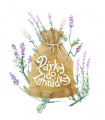 Dárkové balení semen levandule - dárkový sáček s visačkou zdarma