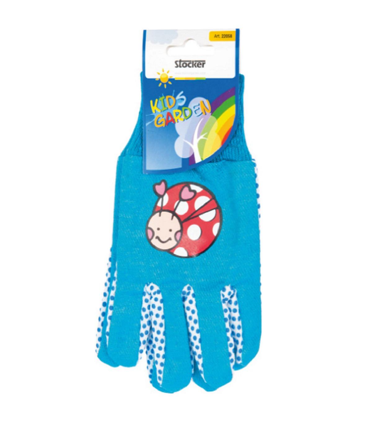 Dětské pracovní rukavice Stocker - modré - 1 pár