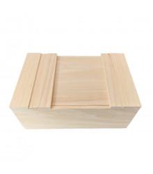 Dřevěná krabička - přírodní borovicové dřevo - 1 ks