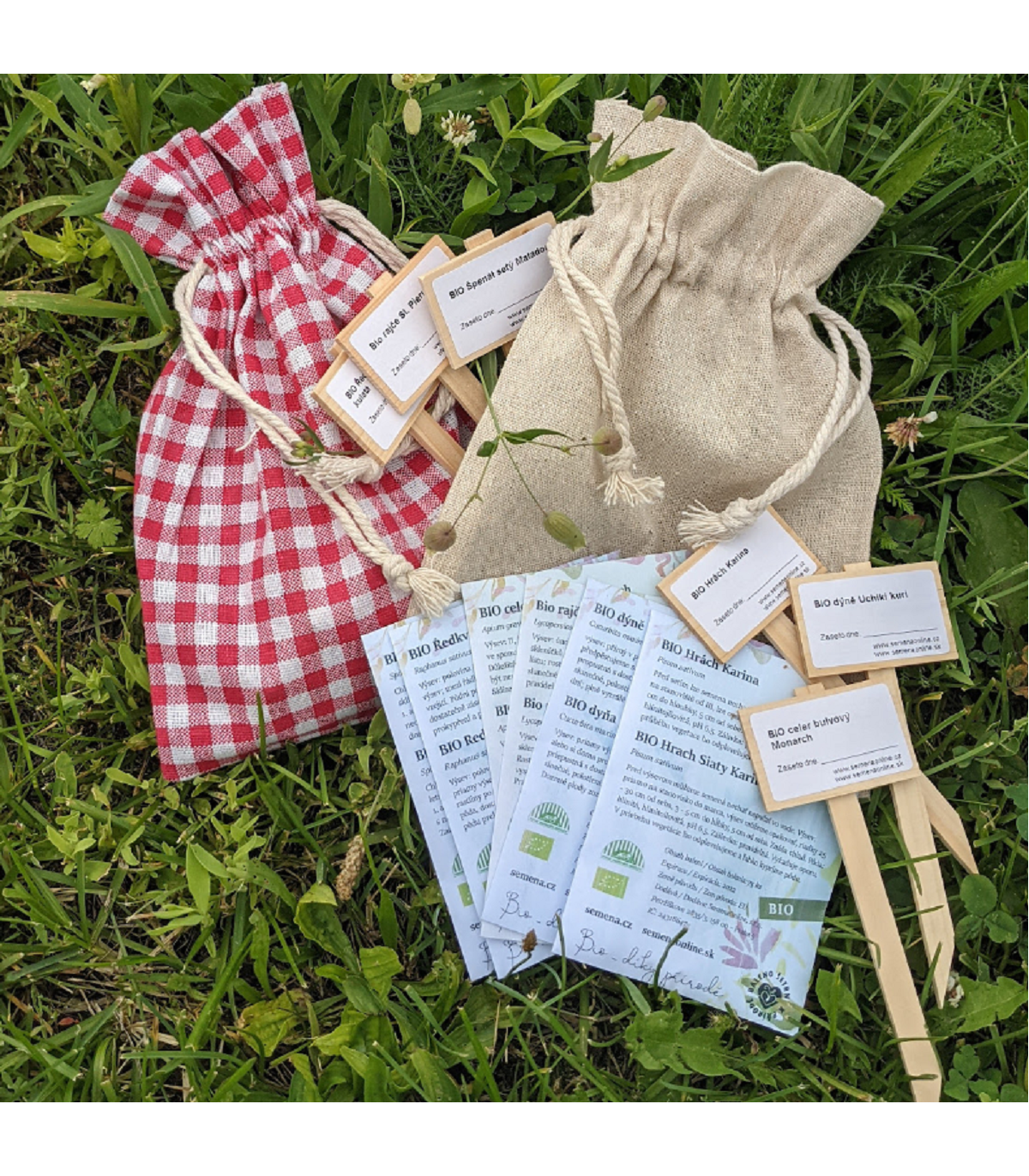 Dárkové balení semen BIO zeleniny - dárkový sáček s visačkou zdarma